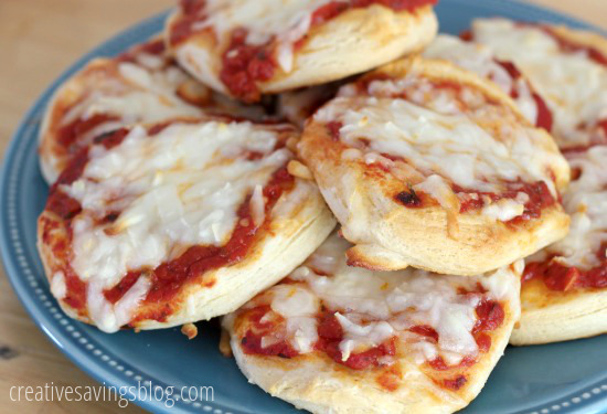 Flaky Biscuit Pizzas   Creative Savings