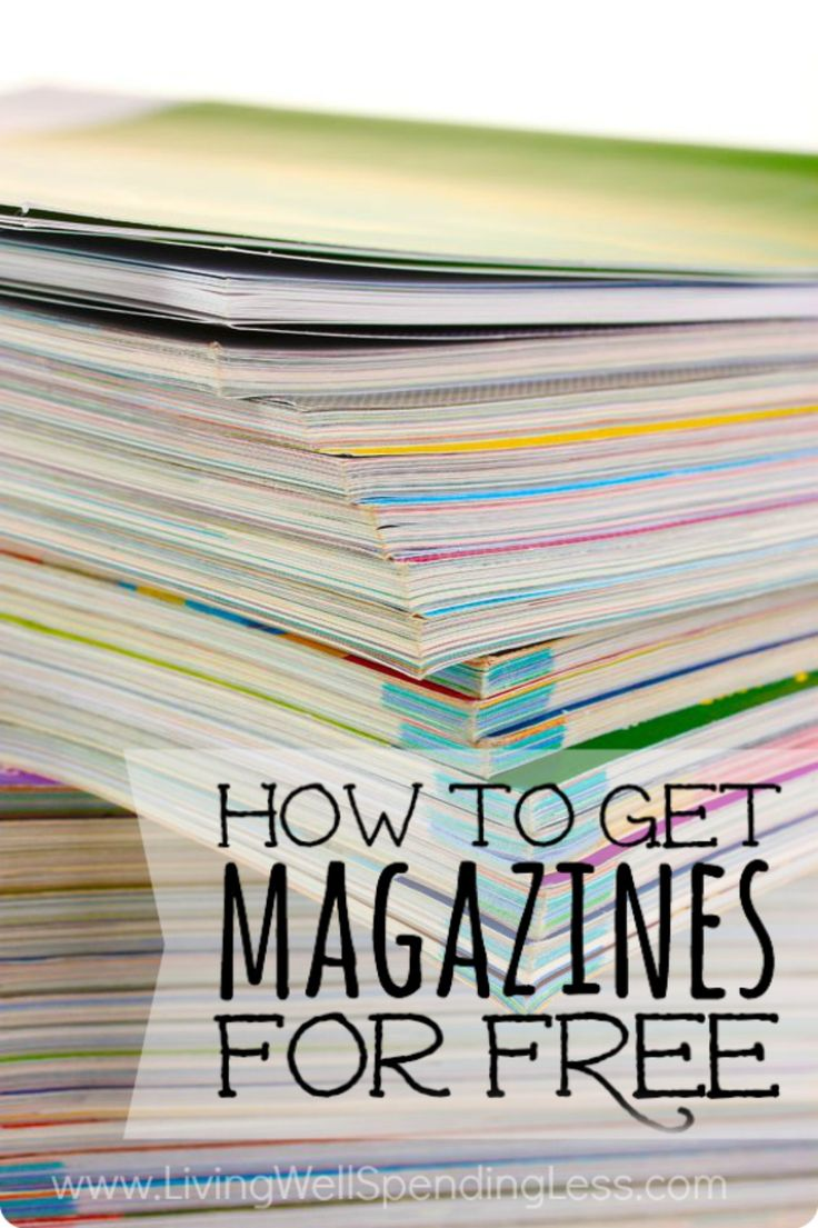 Magazine costs are outrageous and high-priced, but you can still get your favorite magazines for FREE. Here's a list of all my secrets! #freemagazines #freesubscriptions #getmagazinesforfree