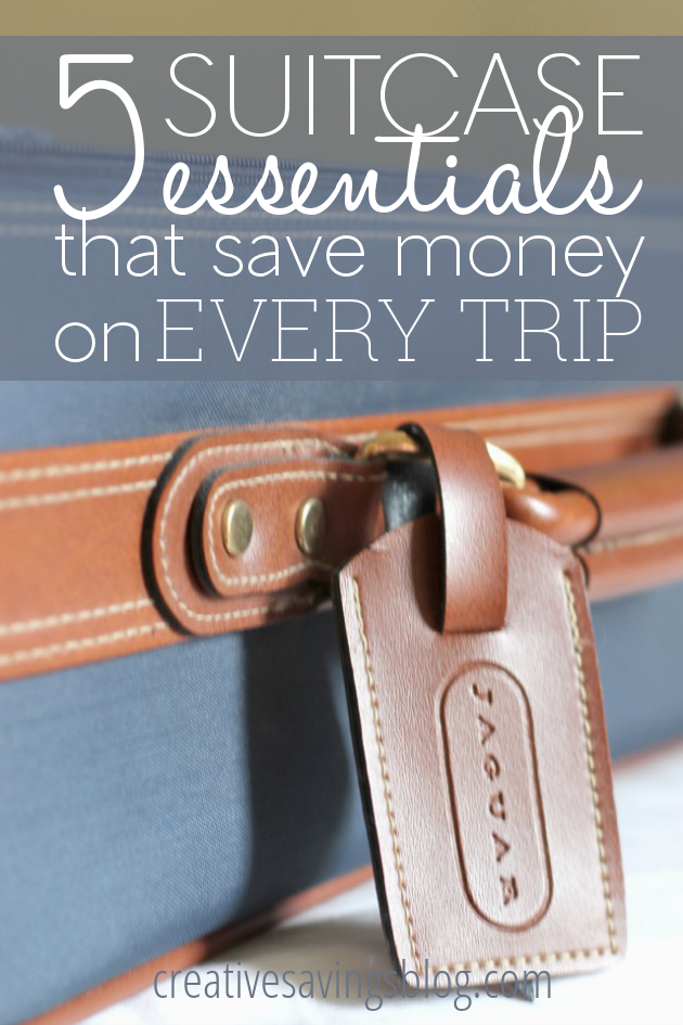 Travel isn't cheap, but these 5 suitcase essentials save you a ton of money just by bringing them along!