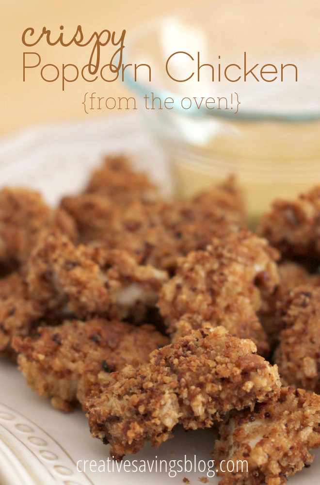These easy popcorn chicken bites come together in less than 30 minutes, and make the perfect quick dinner or hearty snack!