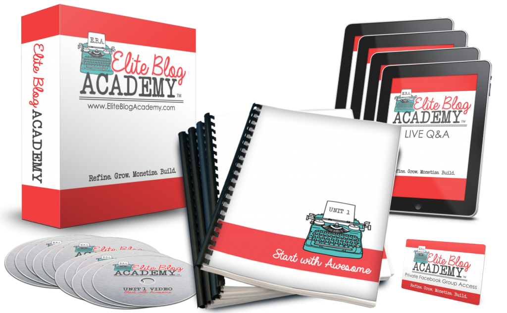 Want to take your blog to the next level, or finally stop spinning your wheels? Elite Blog Academy offers a comprehensive framework and a step-by-step plan for creating a successful, profitable blog. It was by far the best investment I have ever made for my business, and the money-back guarantee means you literally have nothing to lose! Doors are only open for five days–don't miss your chance!