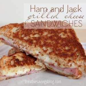 Ham and Jack Grilled Cheese Sandwiches