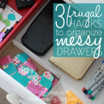 Organize messy drawers on the cheap without the need for special containers!