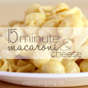 15 Minute Macaroni and Cheese