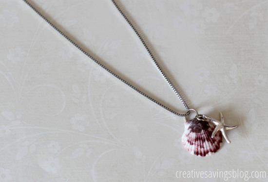 DIY Shell Neclace | Creative Savings