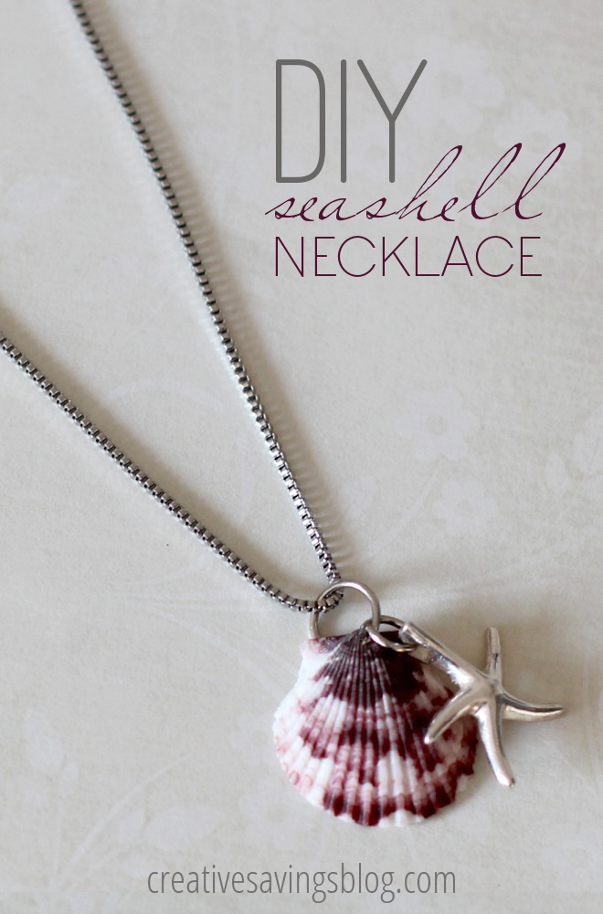 Not sure what to do with all those shells you collected from vacation? Pick one of your favorites and turn it into a DIY seashell necklace!