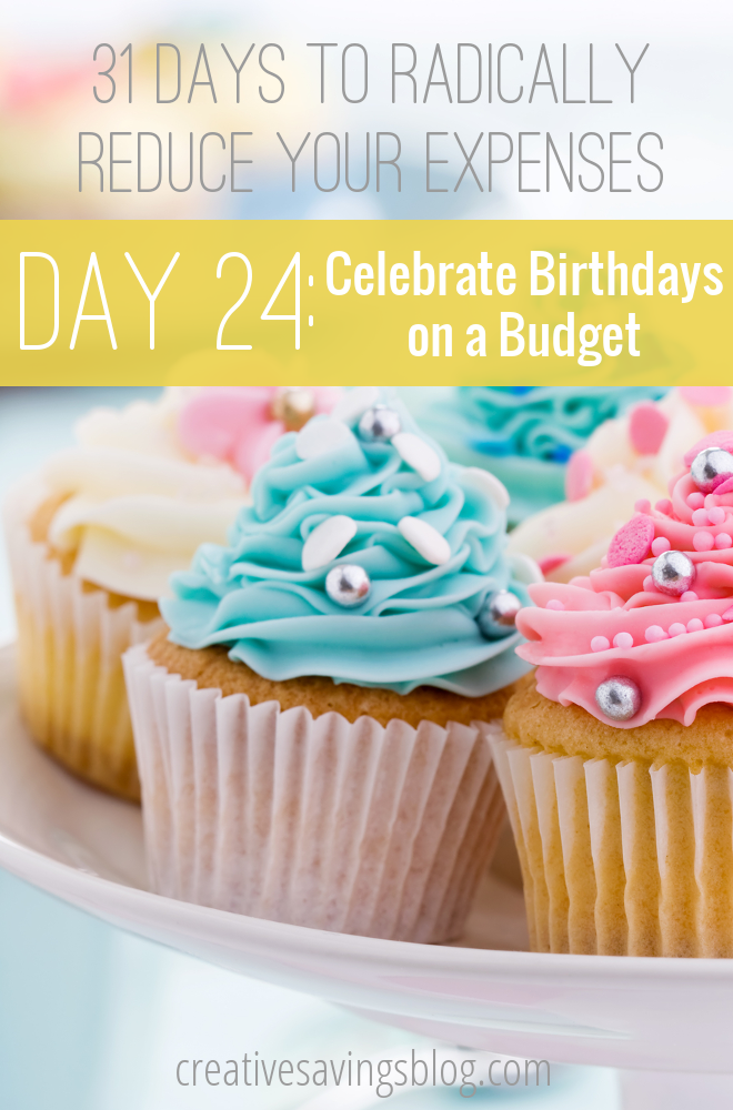 Try one or all of these 5 creative ways to celebrate birthdays on a budget, then sit back and enjoy the savings during your next family bash!