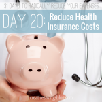 Day 20: Reduce Health Insurance Costs