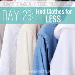 Day 23: Find Clothes for Less