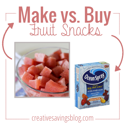 Are homemade fruit snacks cheaper than store-bought? You might be surprised at who wins this one!