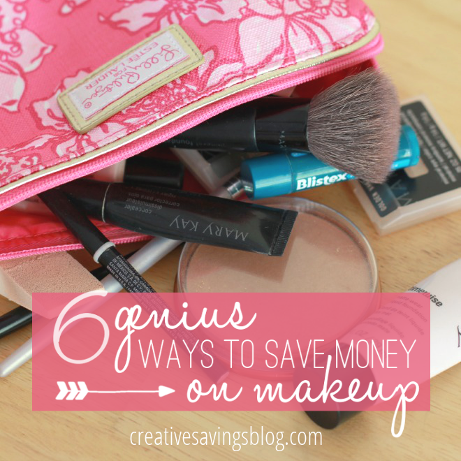 Create a natural, flawless look for LESS with these 6 ideas to save money on makeup. #3 is genius!!