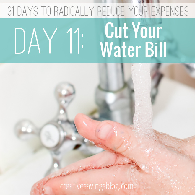Day 11: Cut Your Water Bill