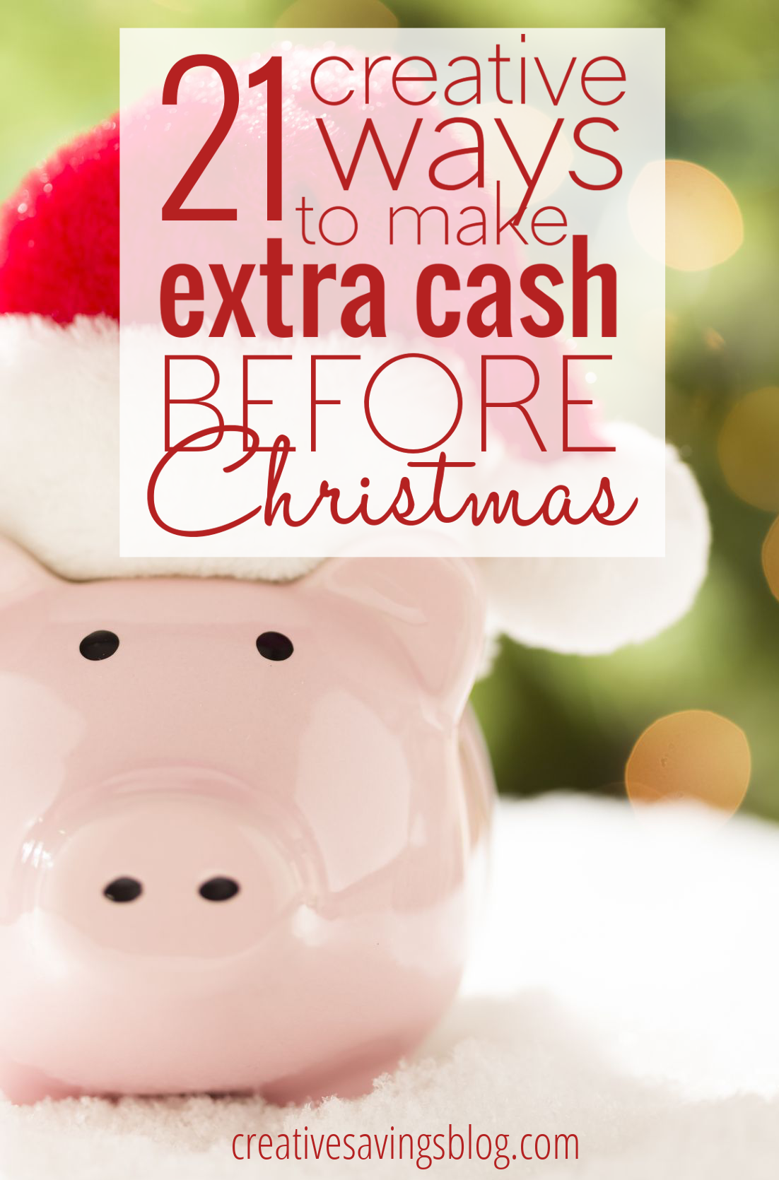 Here are 21 ways to make extra cash before Christmas, including legitimate work-from-home opportunities, and how to trade in your junk for maximum profit!