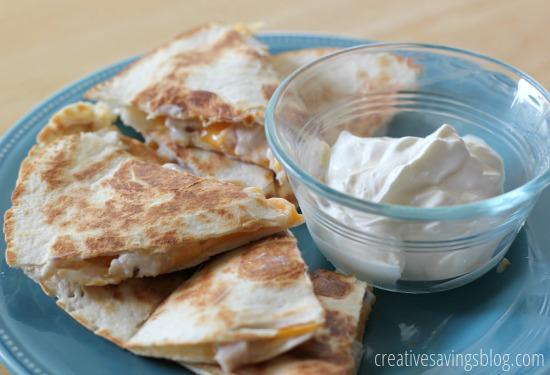 Cheesy Turkey and Ranch Quesadillas | Creative Savings