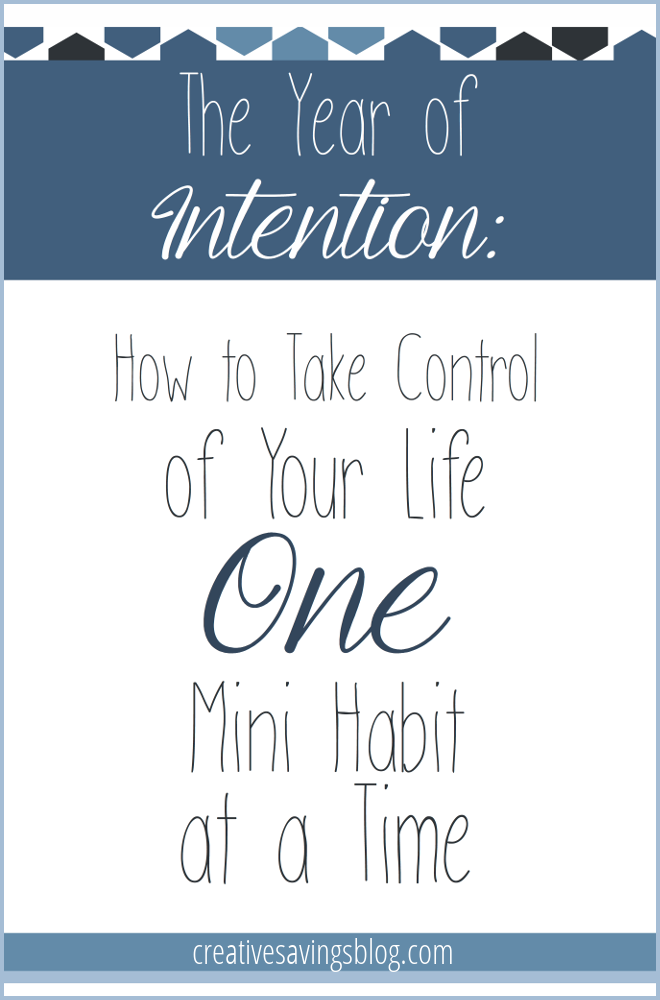 Intentional mini habits are the BEST way to take control of your life if you want lasting results and longterm success!