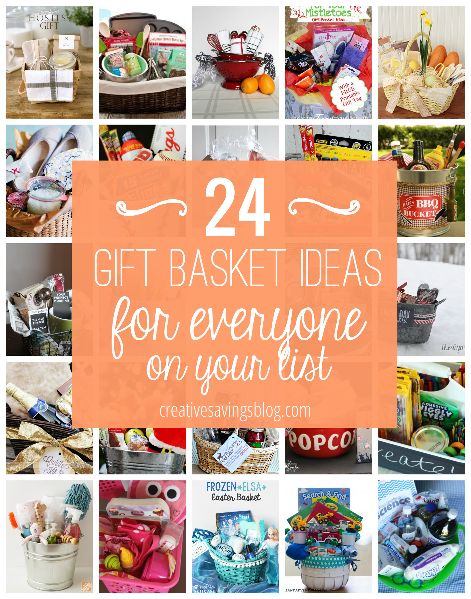 Diy gift basket ideas for everyone on your list for Ideas for homemade christmas gift baskets