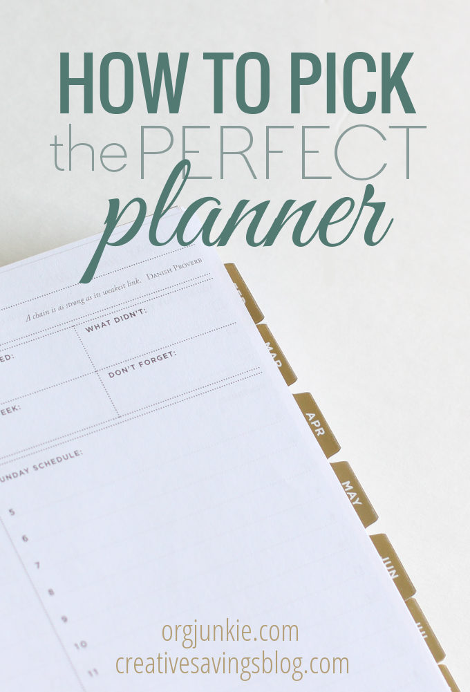 Ready to organize your day with a new planner, but have no idea where to start? This 3-step process shows you how to pick a planner that works!