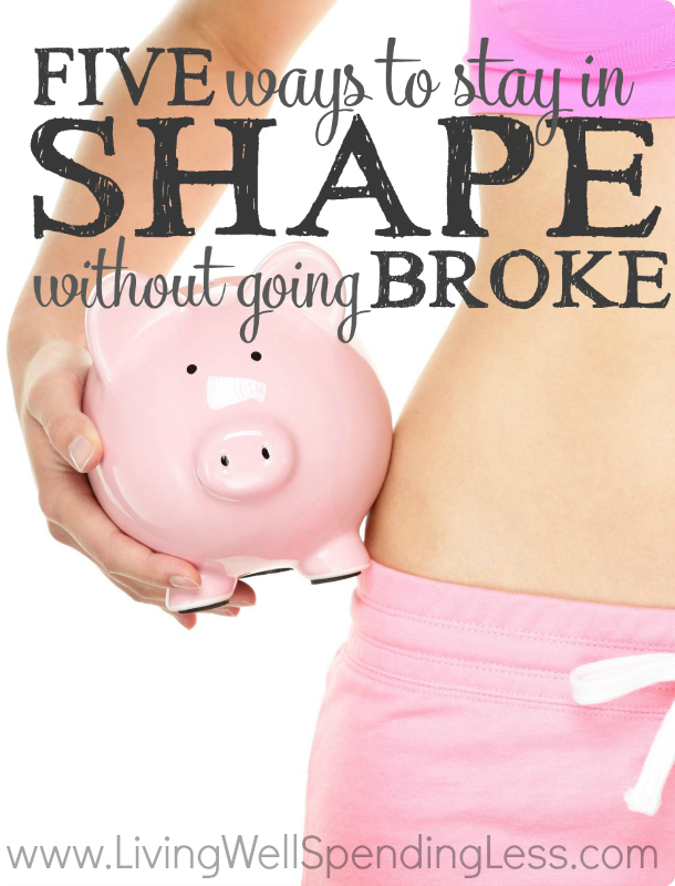 Concerned about starting a new health routine because you don't have any extra cash to spend? Here are 5 simple ways to stay in shape without going broke.