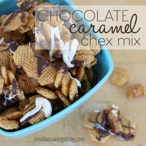 Chocolate Caramel Chex Mix