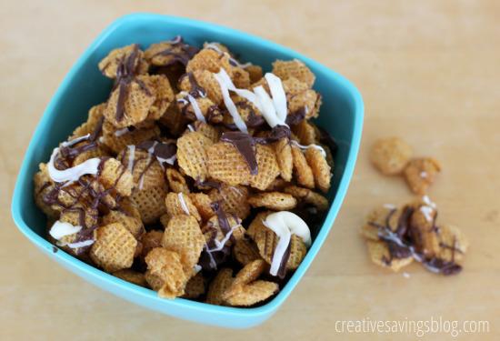 Chocolate Caramel Chex Mix | Creative Savings