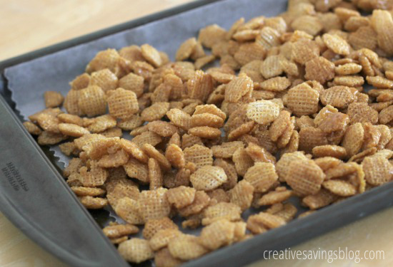 Chocolate Caramel Chex Mix | Creative Savings