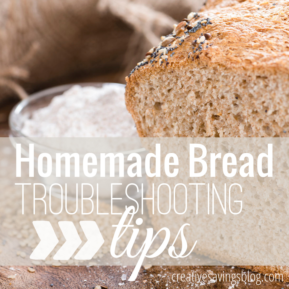 If you have trouble getting your bread to look and taste just right, here's a great list of homemade bread troubleshooting tips to help improve your skills. Finally get that perfect-looking loaf, every time!