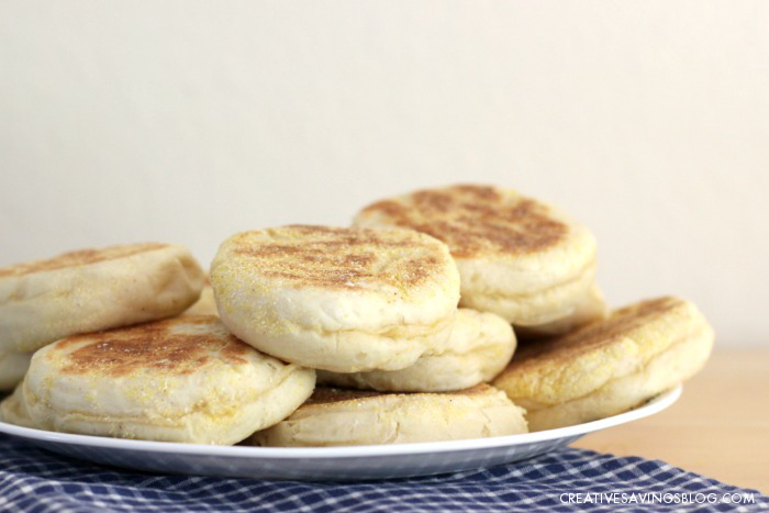 These Homemade English Muffins are super easy to make, and cost pennies compared to packages in the store. The ultra low price beats even store brands!
