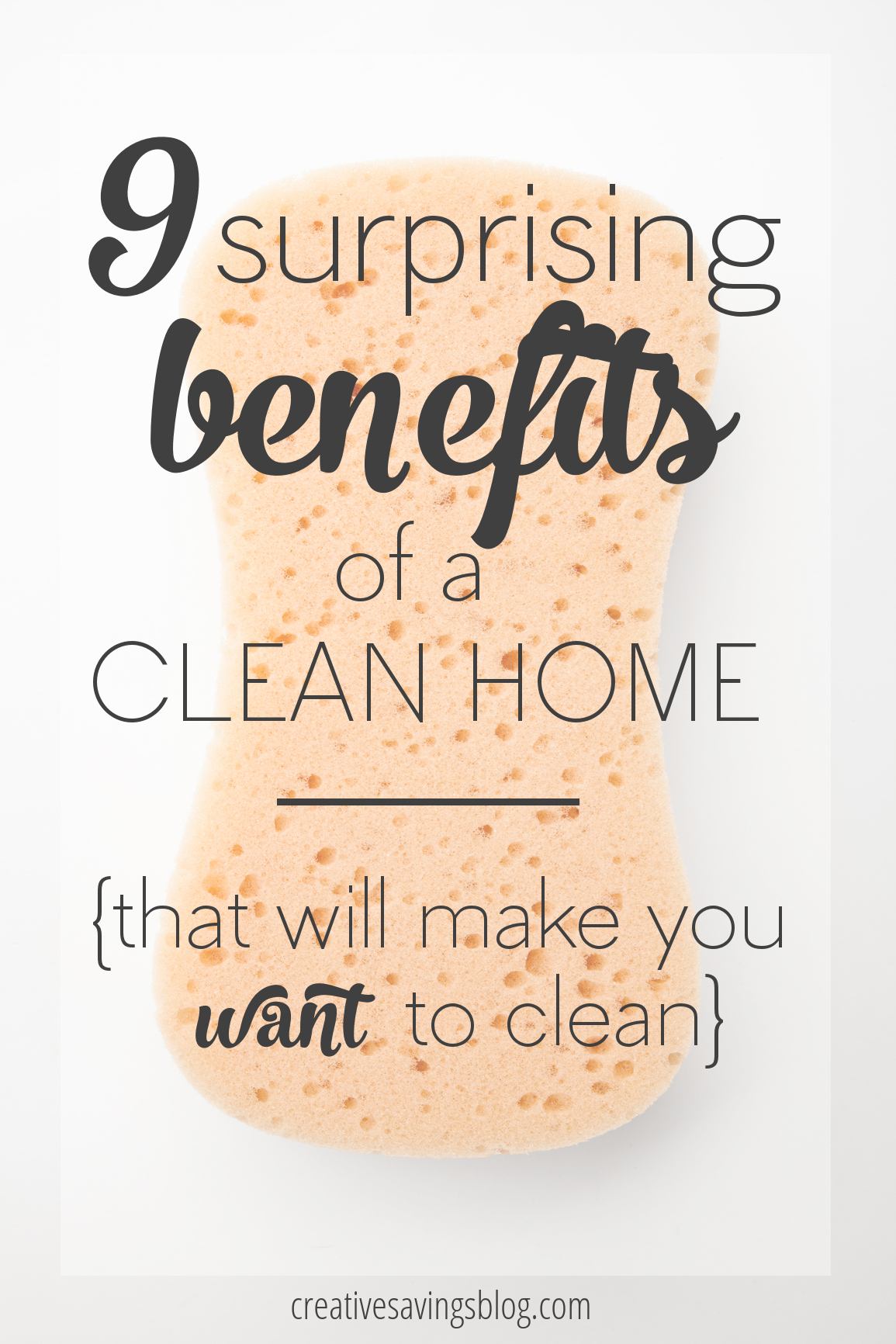 For those of use who hate to clean, we wonder what the whole purpose is of keeping a tidy and clutter-free home. These 9 surprising benefits will completely change your perspective on cleaning in general, and by the time you're done reading this post, I promise you'll want to establish a regular cleaning routine right away! #cleanhoome #benefitsofcleaning #howtomakemyselfclean #motivatingtoclean #cleanhometips