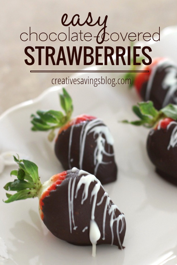Gourmet chocolate-covered strawberries are super easy to recreate at home, and cost pennies compared to expensive online shops. They make the perfect treat for a romantic night in, or as yummy Valentine's Day gift for your sweetheart!