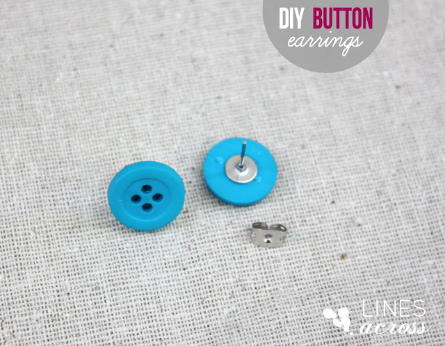 DIY Button Earrings | Frugal Uses for Buttons