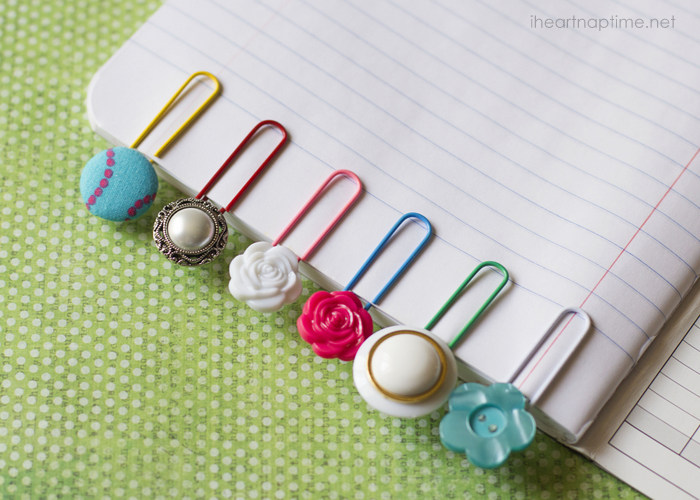 Button Bookmarks | Frugal Uses for Buttons