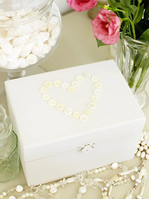 Button Jewelry Box | Frugal Uses for Buttons