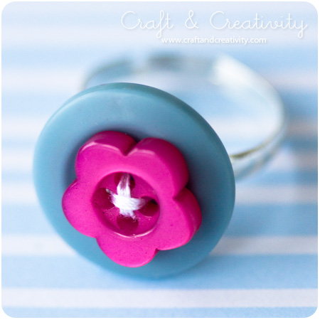 Button Ring | Frugal Uses for Buttons