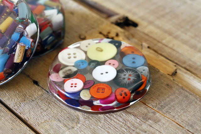 Button Coaster   Frugal Uses for Buttons