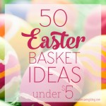 Springtime is just around the corner, which means it`s time to think about what to put in all those Easter baskets! These 50 fun and creative Easter basket ideas cost less than $5, and don`t include any sugar or chocolate!
