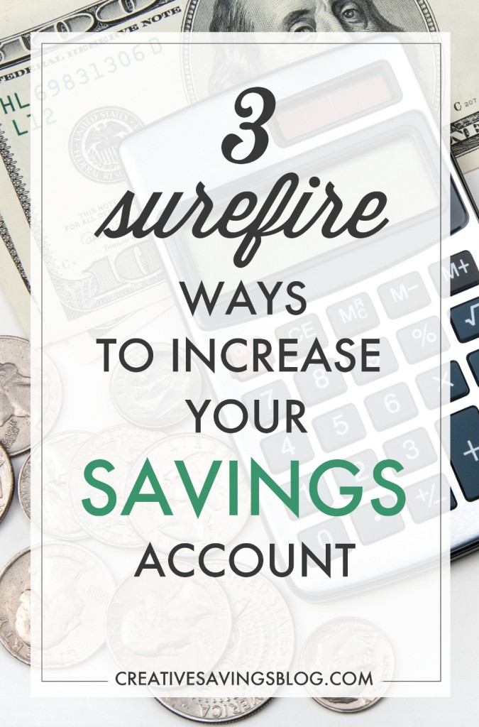 "Having a healthy savings is essential to my financial well-being! I've know this for years but not known how to put it into practice! Until now! These 3 strategies to increase my savings account are making me hear ""cha-ching!"" #2 is super motivating and will make sure I stay on track! #savings #howtosave #savingsaccount #savemore #moneysavingtips #savingmoney"