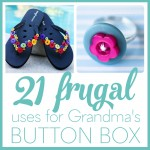 Need some thrifty ideas to use up all those buttons you`ve been saving? This list is full of DIY button crafts that wow and inspire. You`ll find all sorts of fun ways to jazz up plain clothes, repurpose old frames, create colorful jewelry, and more!