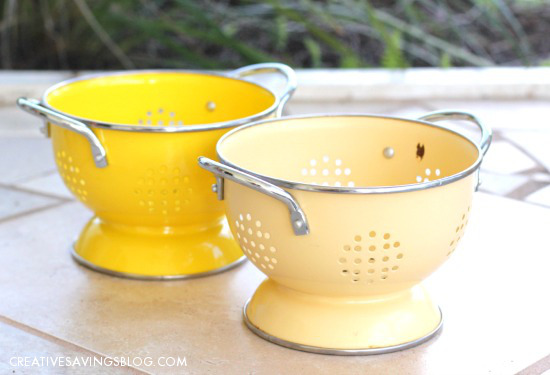 DIY Colander Planter | Creative Savings
