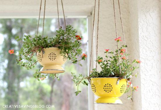 DIY Colander Planter | Creative Savings