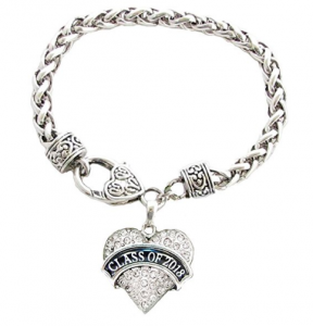 inexpensive graduation gifts: silver bracelet with Class of 2018 charm