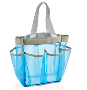 blue mesh shower caddy