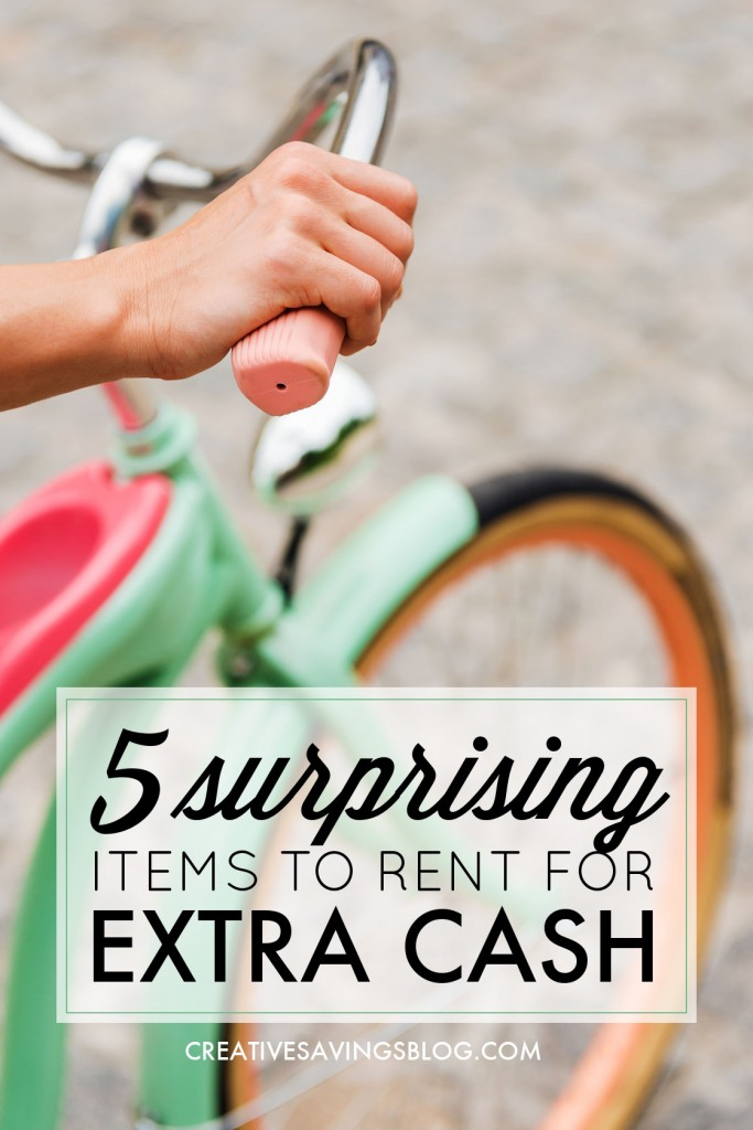 Want to create passive income without getting a second job? Here are 5 items you can rent out right away to pocket some extra cash. #5 will keep your garage from becoming too cluttered!