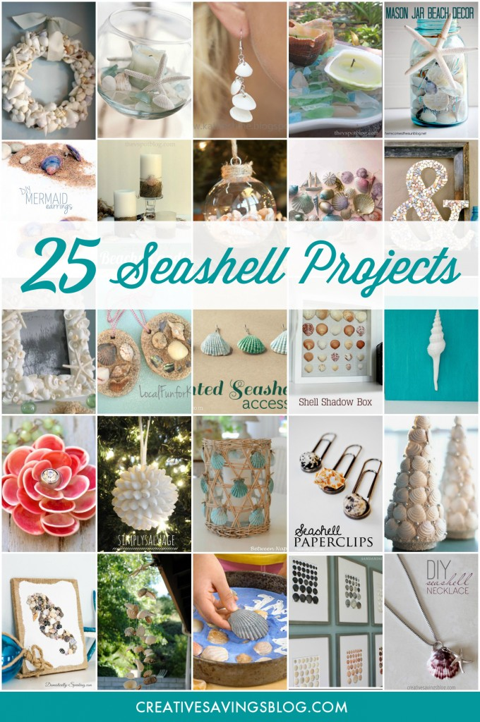You can do practically anything with a handful of pretty shells, and best of all, they're FREE for the taking! Collect various shapes and sizes on your next trip to the beach, and turn them into one of these beautiful seashell projects. They truly are a work of art! #seashells #diy #seashellprojects #beachdecor #homemadeseashellcrafts