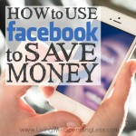 How to Use Facebook to Save Money