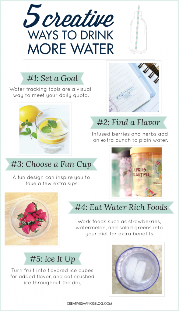 There are SO many benefits to drinking water, but many of us are not drinking nearly enough. Anytime you're struggling to grab your fourth or fifth glass, try one of these creative ways to drink more water. Before you know it, you'll be well on your way to meet those daily goals with ease!