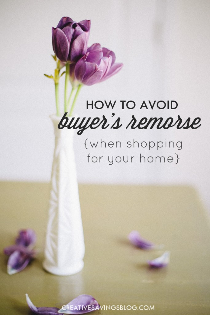 Shopping for your home can be a very overwhelming process, and you often buy pieces that you later regret. These 2 principles will help you avoid buyer's remorse, fill a home with items you truly love, and make smart purchases from here on out!