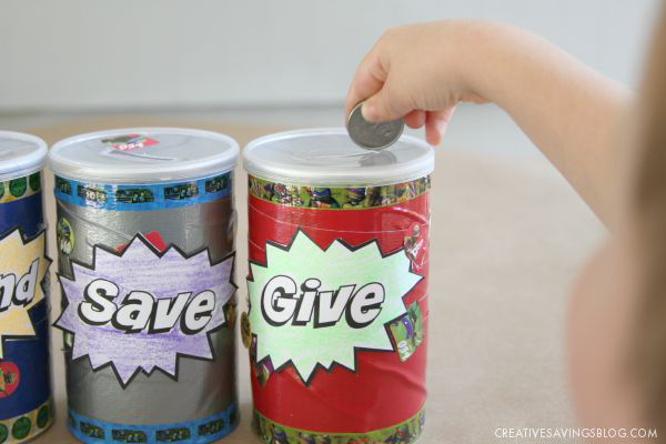 Save Spend Give Jars | Creative Savings