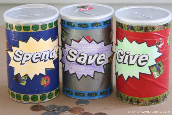 Save Spend Give Jars | Creative Savings