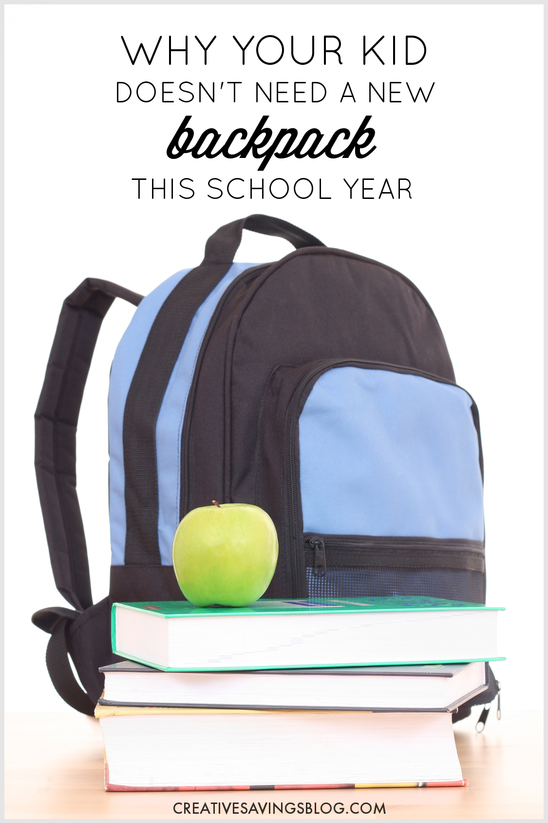 The pressure to buy brand new back to school supplies is ON this time of year, but do our kids really need all that stuff? Here's why your child can do without the latest and greatest, as well as how NOT to spend quite as much. #schoolyear #kidschoolaccessories #newbackpack #newschoolyear #frugalliving