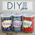 DIY Save Spend Give Jars
